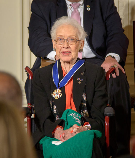 Katherine being awarded the Presidential Medal of Freedom in 2015