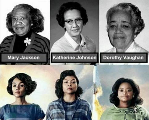 The cast of Hollywood Biography  Hidden Figures; Taraji P. Henson as Katherine Johnson, Octavia Spencer as Dorothy Vaughan And Janelle Monae as Mary Jackson