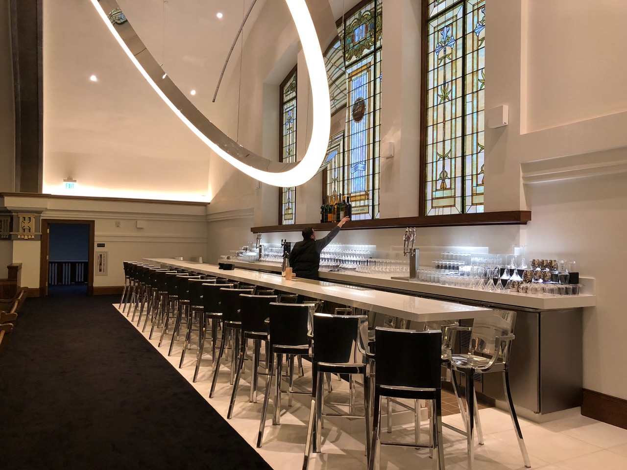 The bar at the Sanctuary. (Photo by Clair Enlow)