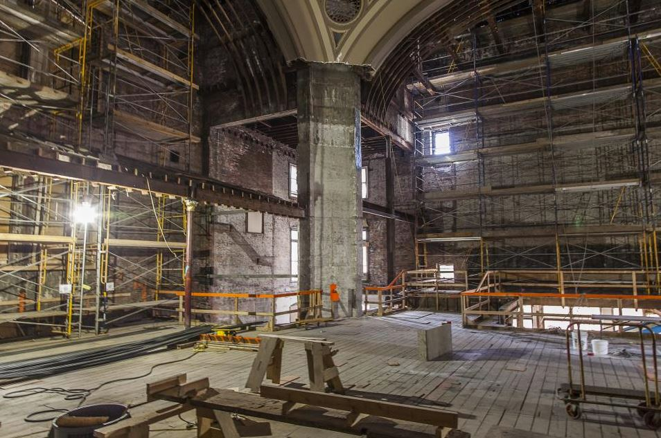 Restoration of the old church faced significant challenges, including earth quake proofing. (Photo by Daniels Real Estate)