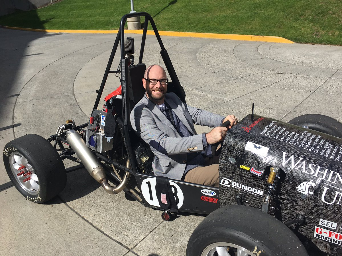 Structural Associate, Matt Snook, P.E., S.E., judging the  Alaskan Airlines Imagine Tomorrow  competition hosted at WSU.