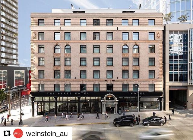 Congratulations to the entire @thestatehotel team for the extraordinary win! 🏆 ... #Repost @weinstein_au  We're excited to announce The State Hotel recently won @historicseattle's 2019 Best Preservation Project Award — congratulations to @thestatehotel, the WAU project team, @lakeunionpartners, #ExxelPacific, @vidadesignpdx, @cpl_inc and other project collaborators! 📸: @anam.media & @lorenzo_