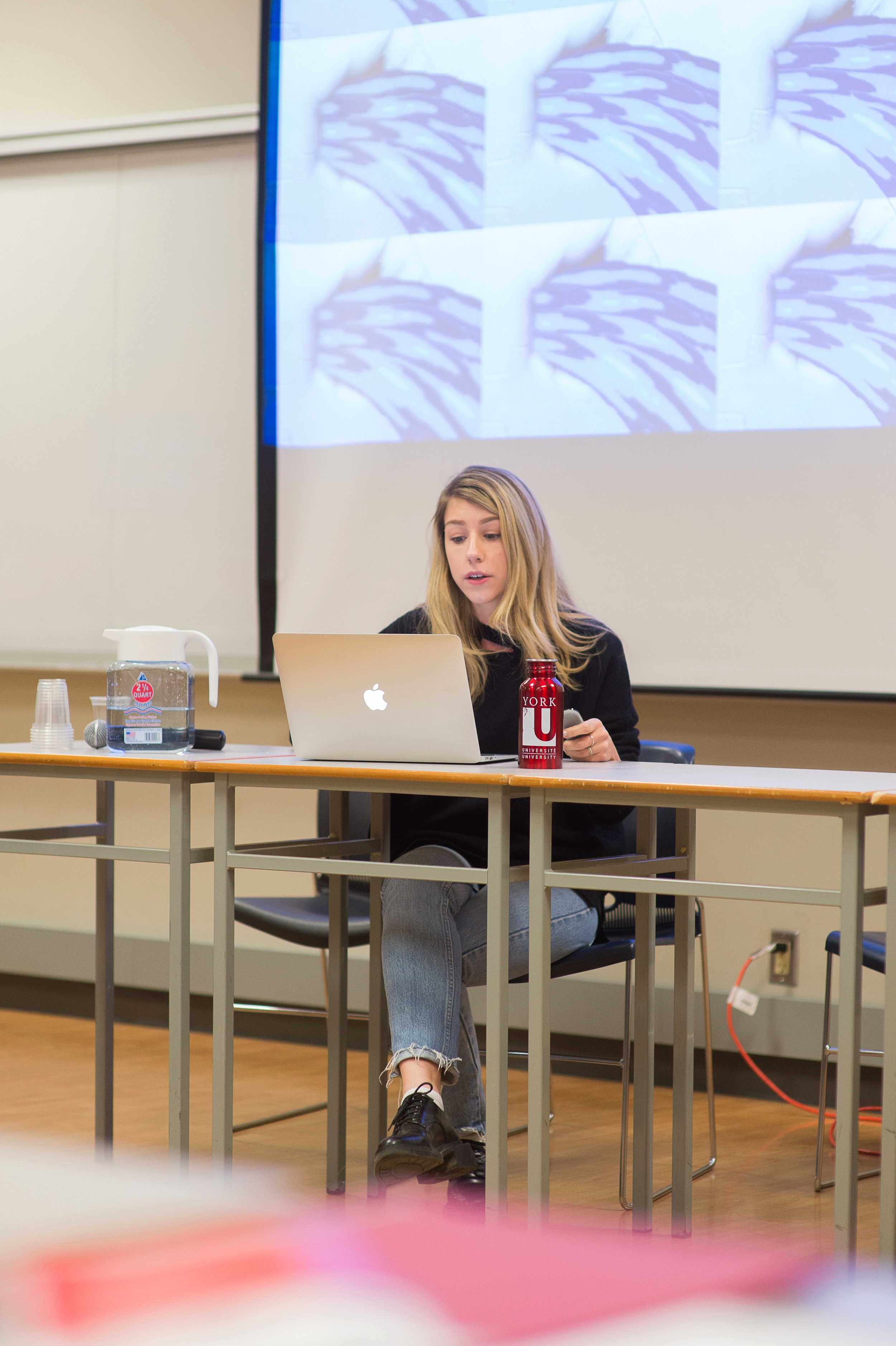 """The Studio for Media Activism & Critical Thought, """"DIRT: Intersectional Approaches to Messiness"""" Second Annual Activist Archive Symposium. Photo by Calla Evans."""