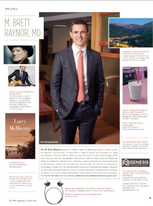 Brett Raynor ON Magazine Profile
