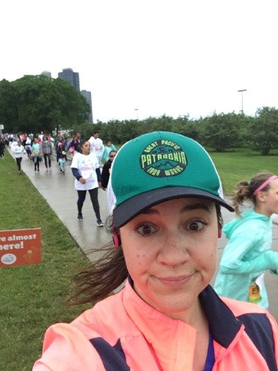 Sort of an unwilling participant in the Girls On the Run race on the path down by museum campus today.  Clogged up the lanes a bit but hey: girls on the run!