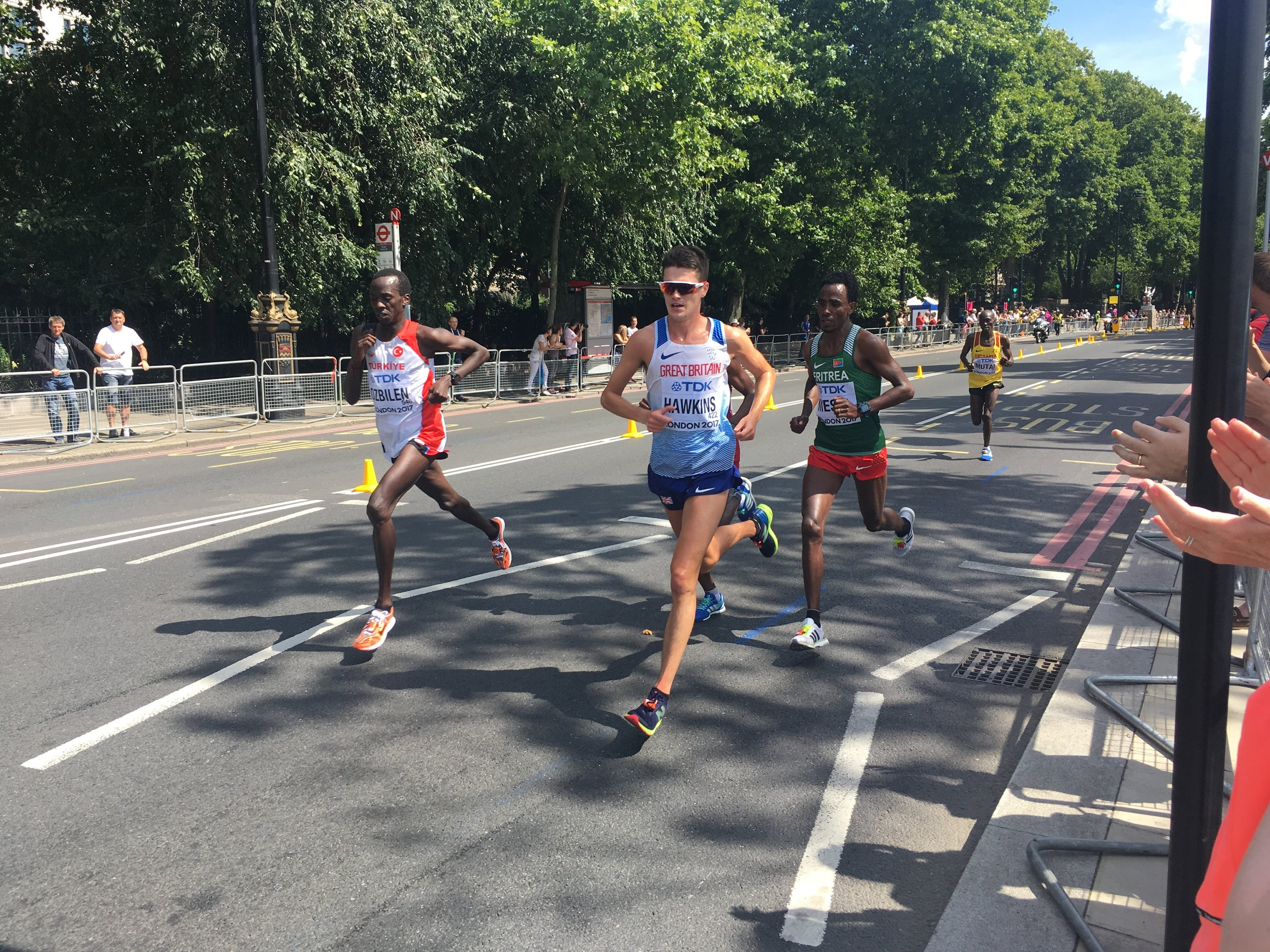 Callum Hawkins from GB, en route to a great 4th place finish