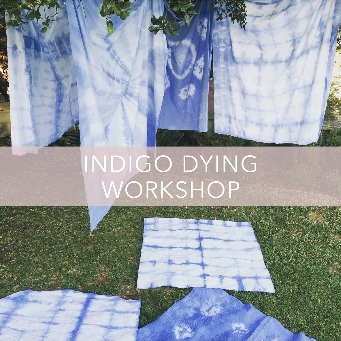 indigo dying workshop