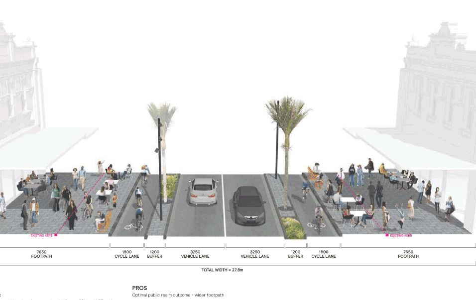 Improved Streetscapes - prioritising our urban spaces for people - residents, business and visitors