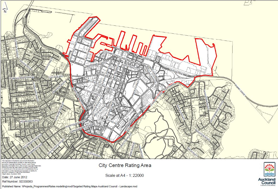 City Centre Targeted Rate Area