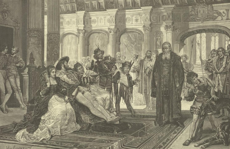 Print by Jules-Arsène Garnier,  Le Roi s'amuse  (1888).