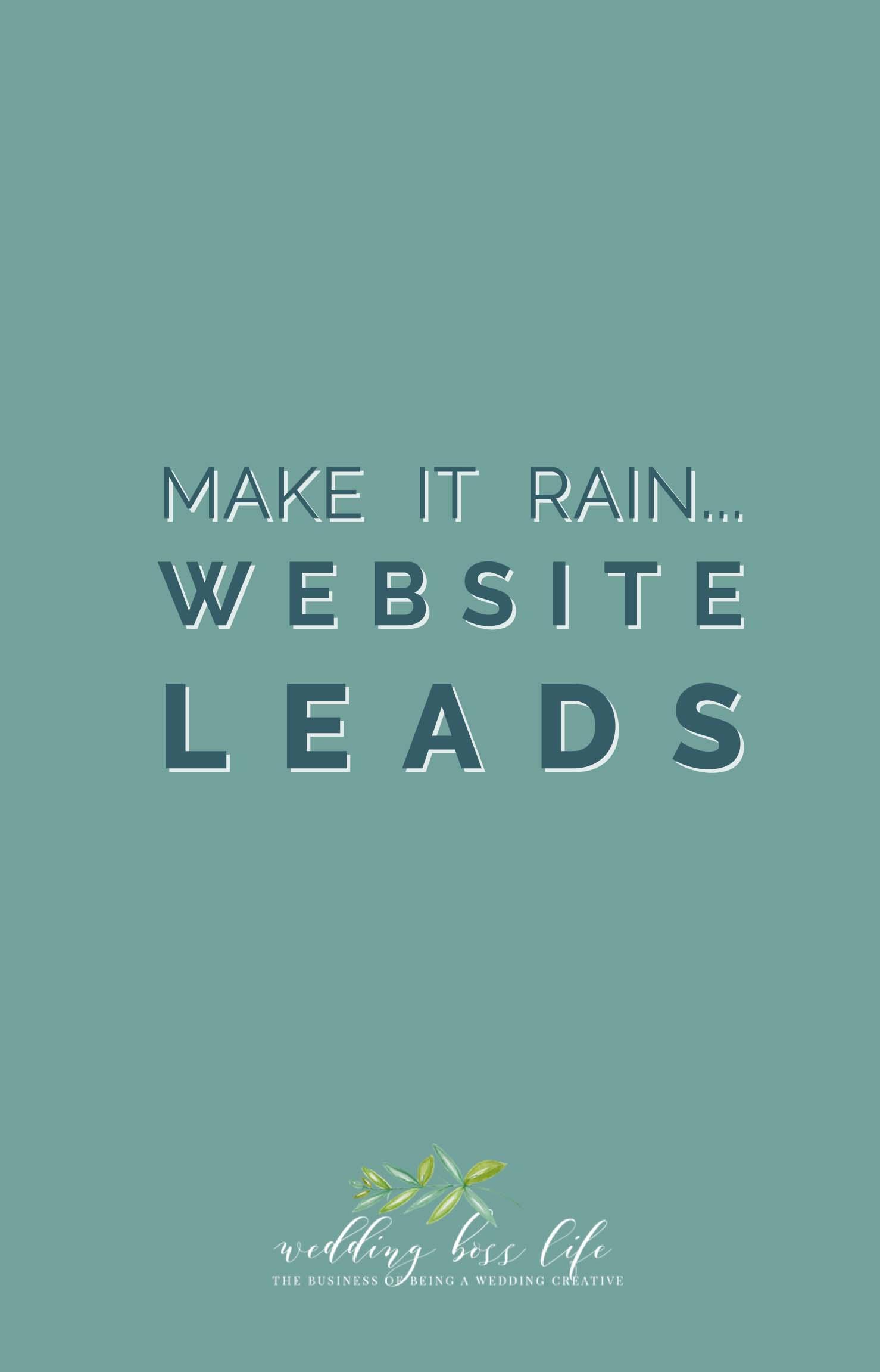 Make it Rain Website Leads