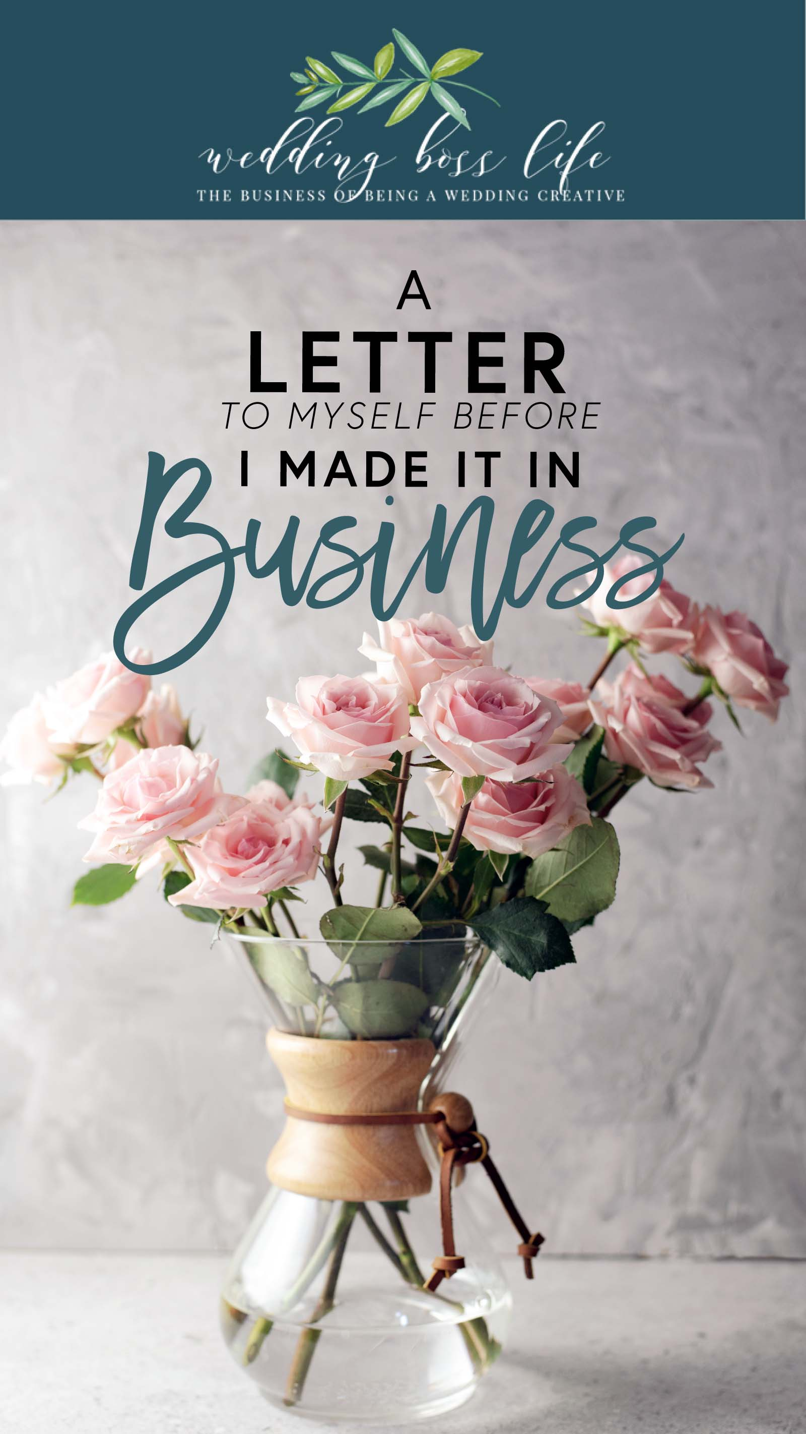 A letter to my business before making it