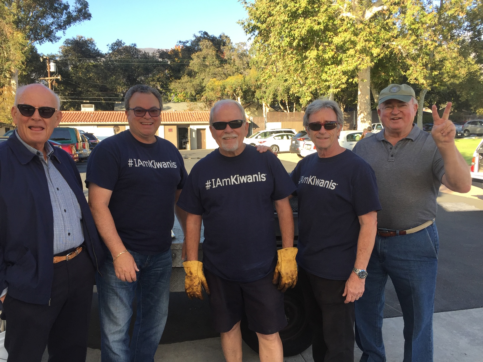 John Byer, Jose Sierra, Randy Slaughter, Lou Finkelberg and John Simpson- Kiwanis BBQ at Hathaway Sycamores