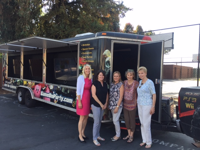 Nancy Stone, Cathy Keen, Monica Sierra, Pauline Beebe, Jeri Benton Clark  Hathaway Sycamores Video Truck