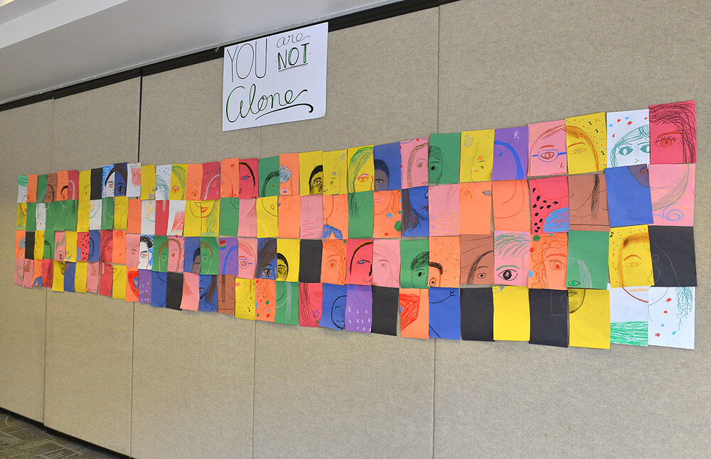"""Didi Hirsch Teen Summit - """"You are not alone"""" artwork quilt"""