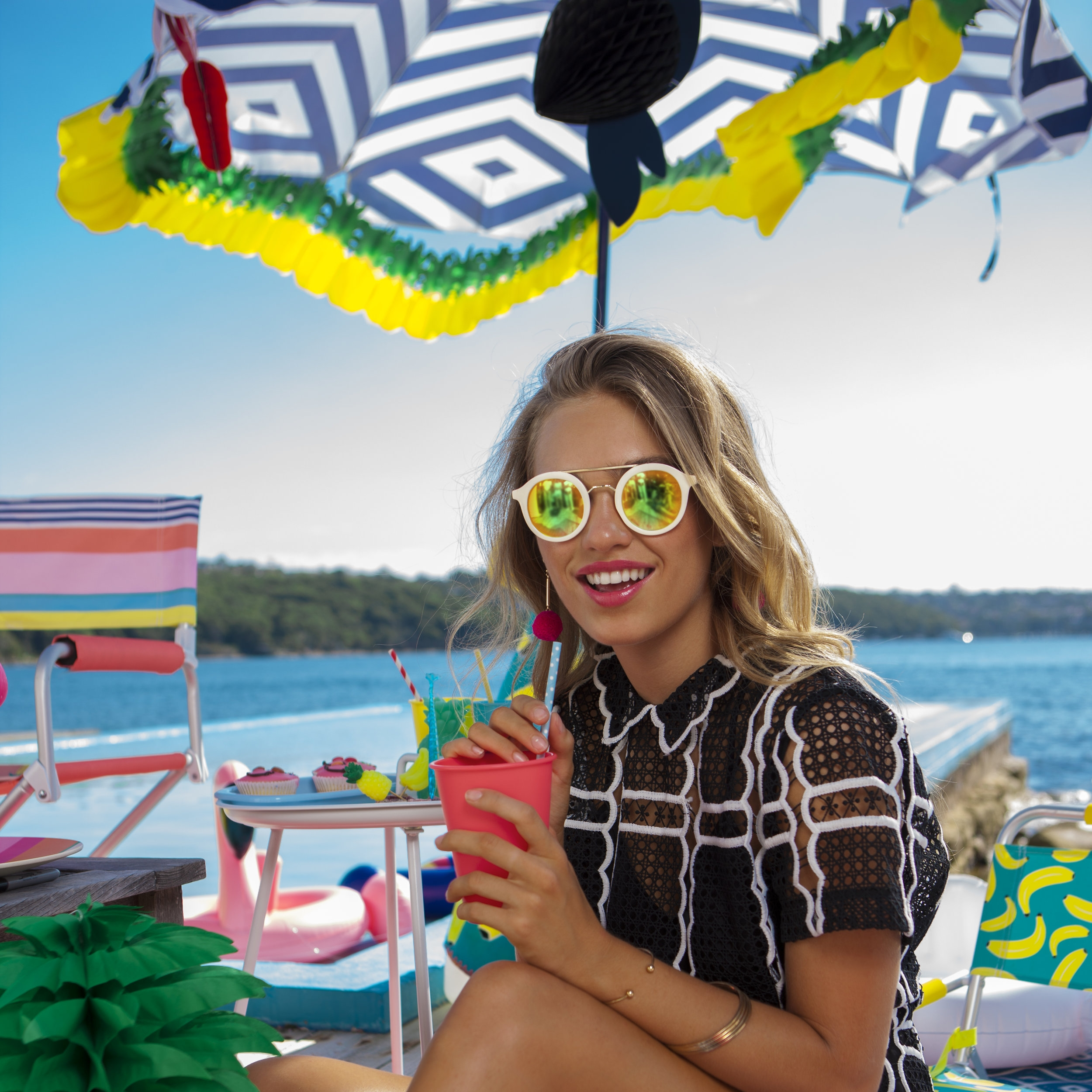 Beach Umbrellas   Keep cool and covered from the sun with fun designs twists made to the classic beach umbrella.