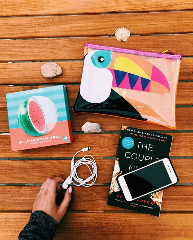 Beach days are the best days 😎 Shop this SunnyLife Toucan Pouch and Watermelon Beachball on the website!