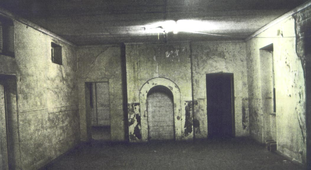 Inside the building's west wing, prior to its restoration (Tanner and Associates Architects)