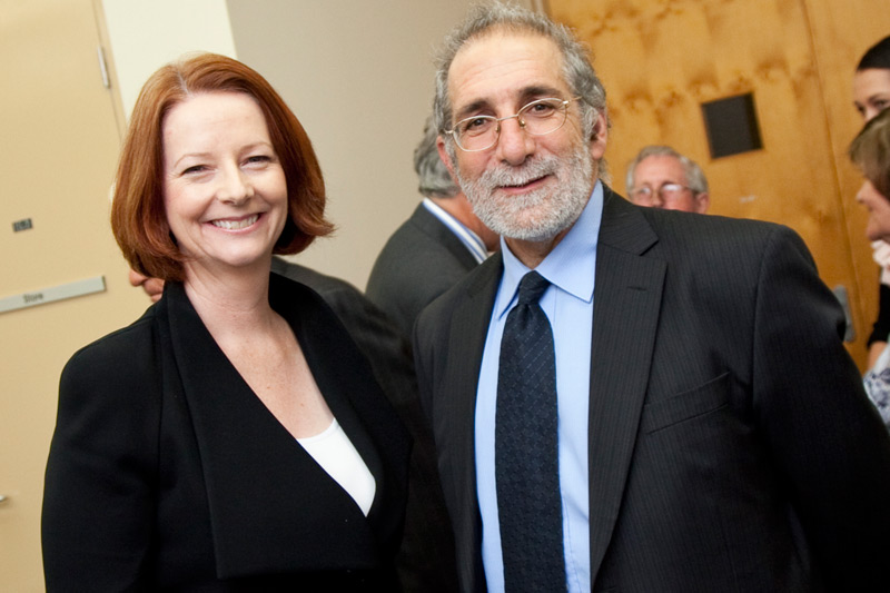 Prime Minister the Hon Julia Gillard MP with Eric Sidoti, Director of the Whitlam Institute