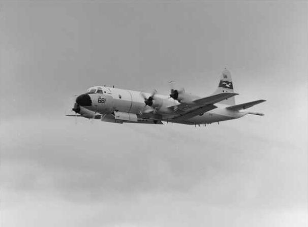 RAAF AP-3C Orion in flight.