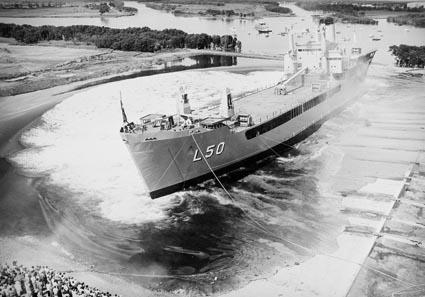 The launch of HMAS Tobruk