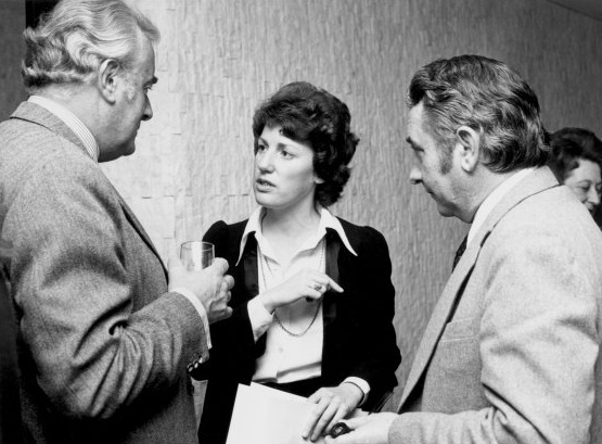 Mr. Whitlam discusses International Women's Year with two members of the National Advisory Committee, Ms. Elizabeth Reid and Mr James Oswin