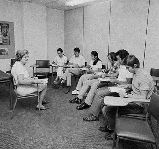 Migrants at the Perth Migrant Education Centre in 1973