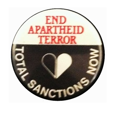 Anti-apartheid badge