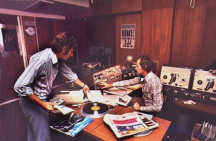 Double J studios in Sydney, 1975