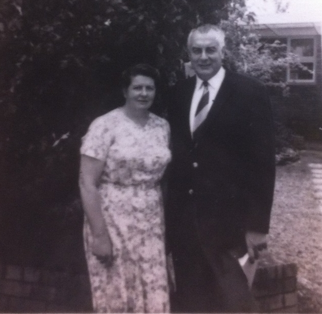 Gough Whitlam with his sister, Freda, at his home in Cabramatta, January 1970.