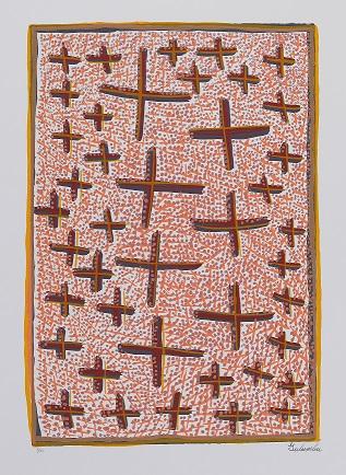 Gulumbu Yunupingu, The Garak, 2002, screenprint, 48x33cm