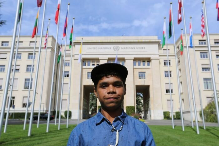 12yo Alice Springs boy to speak at United Nations in push to change Australia's age of criminality    Article by Rachel Clayton ABC News 11 Sept 2019