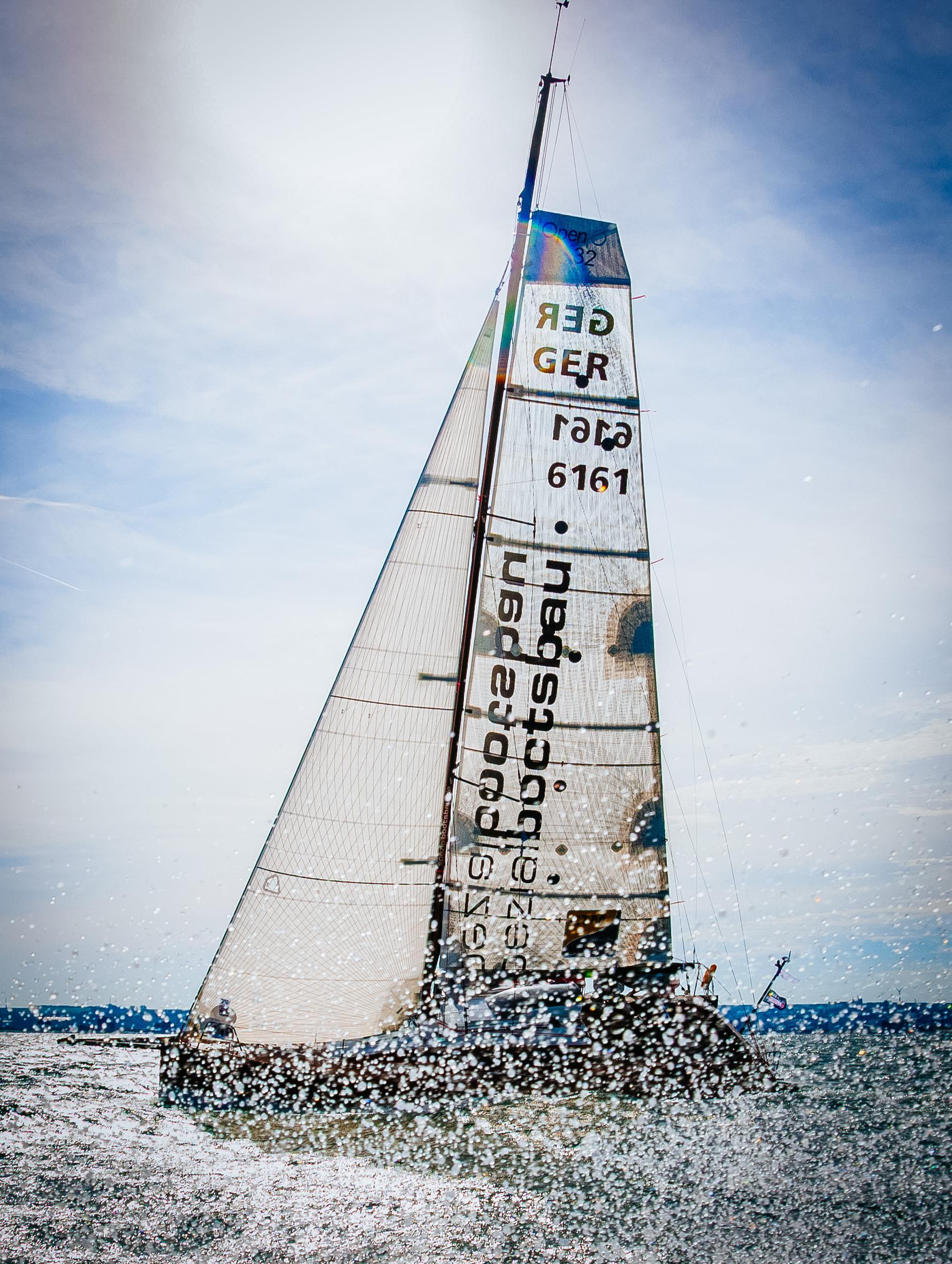 UK Sailmakers Square Top Mainsail 4 Titanium on an Open 32.jpg