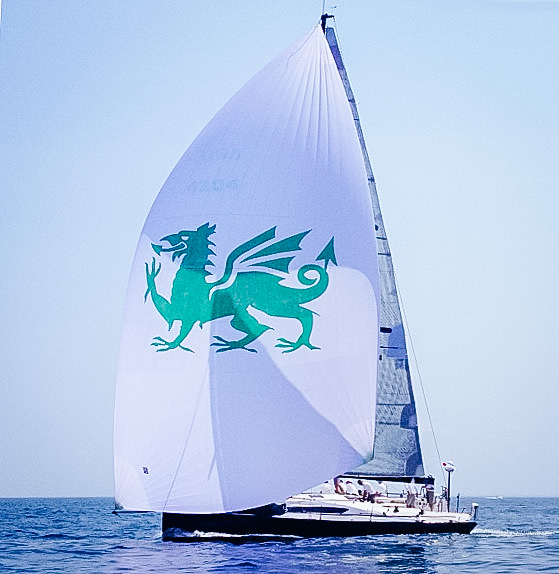 The Syndey 43 CHRISTOPHER DRAGON sailing with her A1.