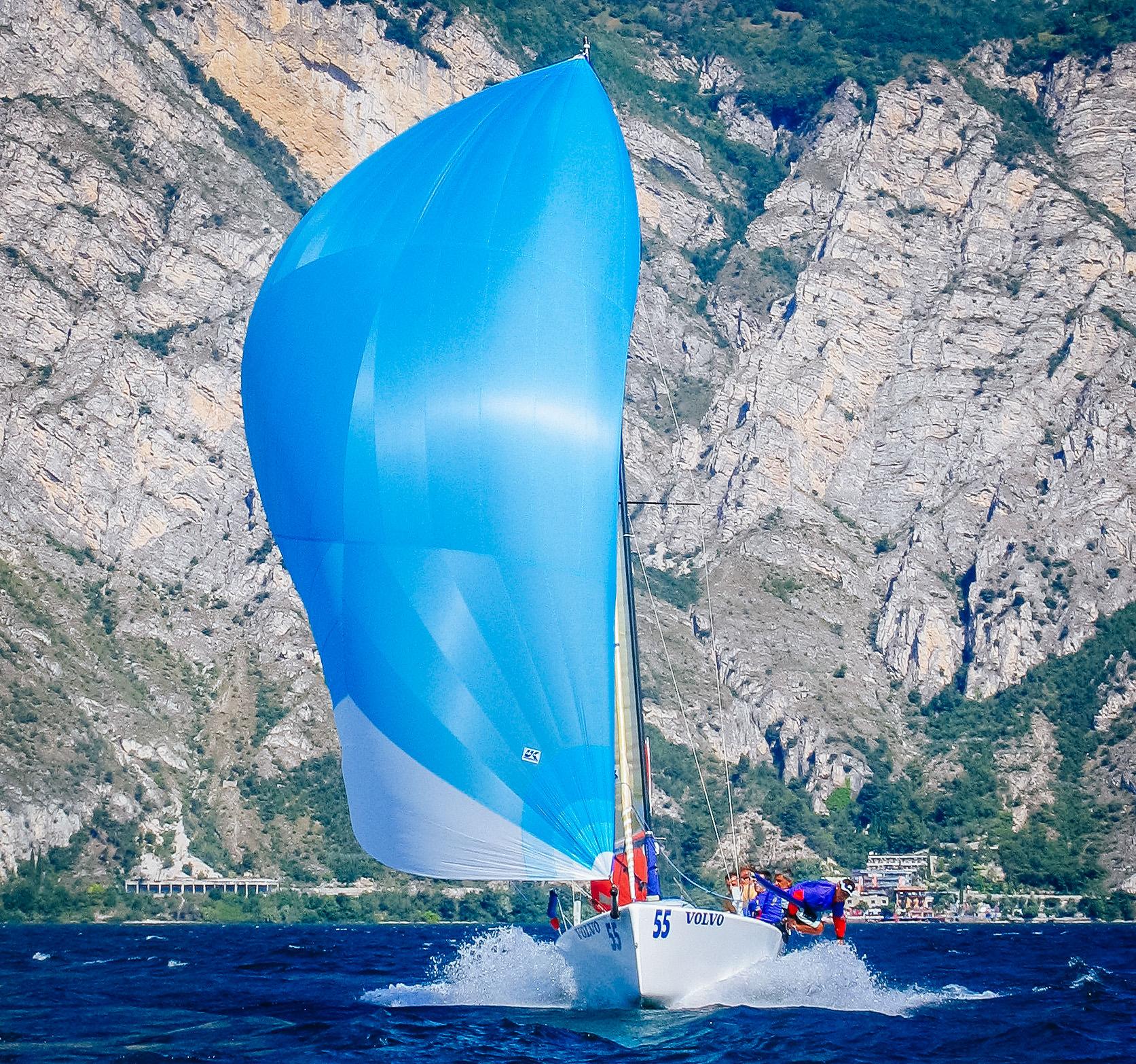 UK Sailmakers A2 Spinnaker Melges 24 Bow On Chute.jpg