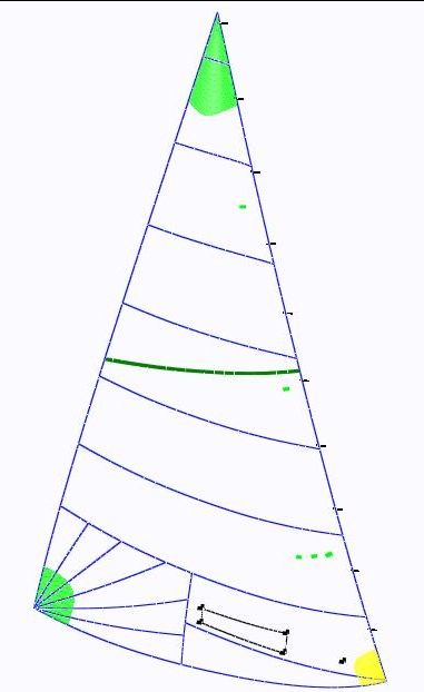UK Sailmakers Ensign genoa panel layout