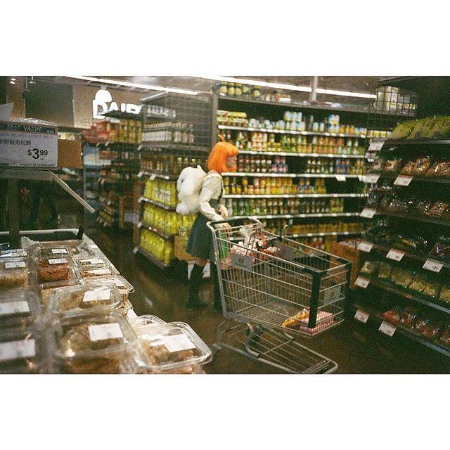 Grocery shopping in style ________________ #womanphotographer #analogphotography #35mmfilmphotography #filmshooter #buyfilmnotmegapixels #filmisnotdead #cinestill800t #lomolca #femalephotographer #filmphotographeraustin #austinphotographer