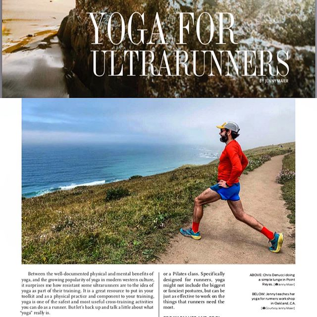 Big time! Check out Jenny's Yoga for ultrarunners article and me kicking off my male modeling career in the Sept 2019 issue of @ultrarunningmag! If you want more of this content, let @ultrarunningmag know!👌🏻 . . You don't have to be flexible to do Yoga! It's been amazing to watch Jenny combine two of her passions, running and Yoga, and share her deep knowledge with others. She is a natural teacher and I am fortunate to have a live in expert. If you want to see in person how Yoga might benefit your running, check out her lastest retreat: Sept 7 in Point Reyes! Only a few spots remain. Link in Bio ☝🏼