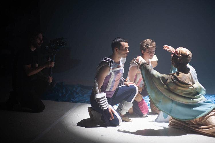 Brandon Bondehagen (Camera Operator), Viktor Usov, Andrea Parson and Jessica McCarthy