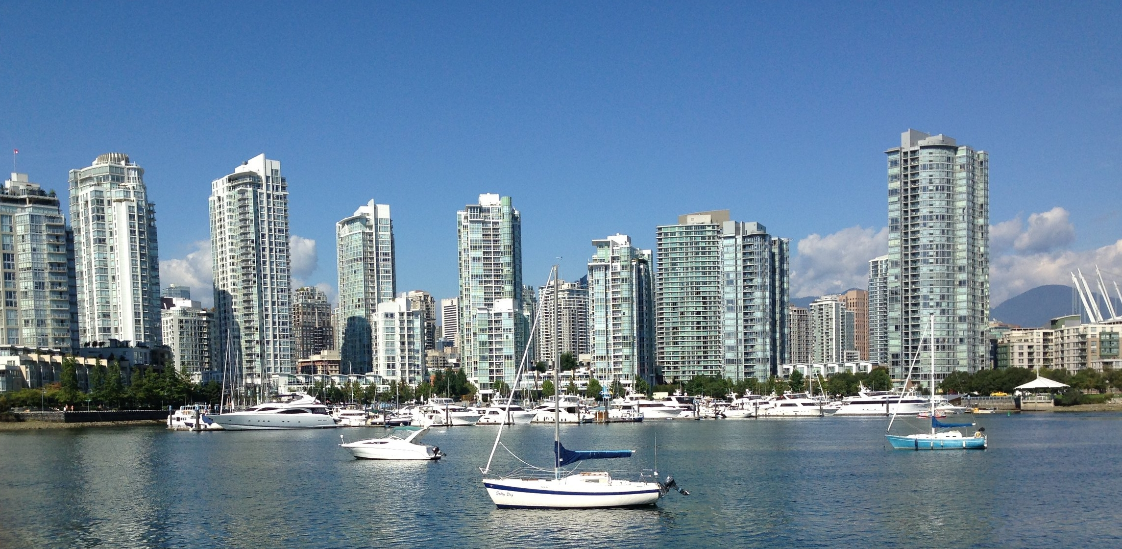 The view from the seawall near the false creek office