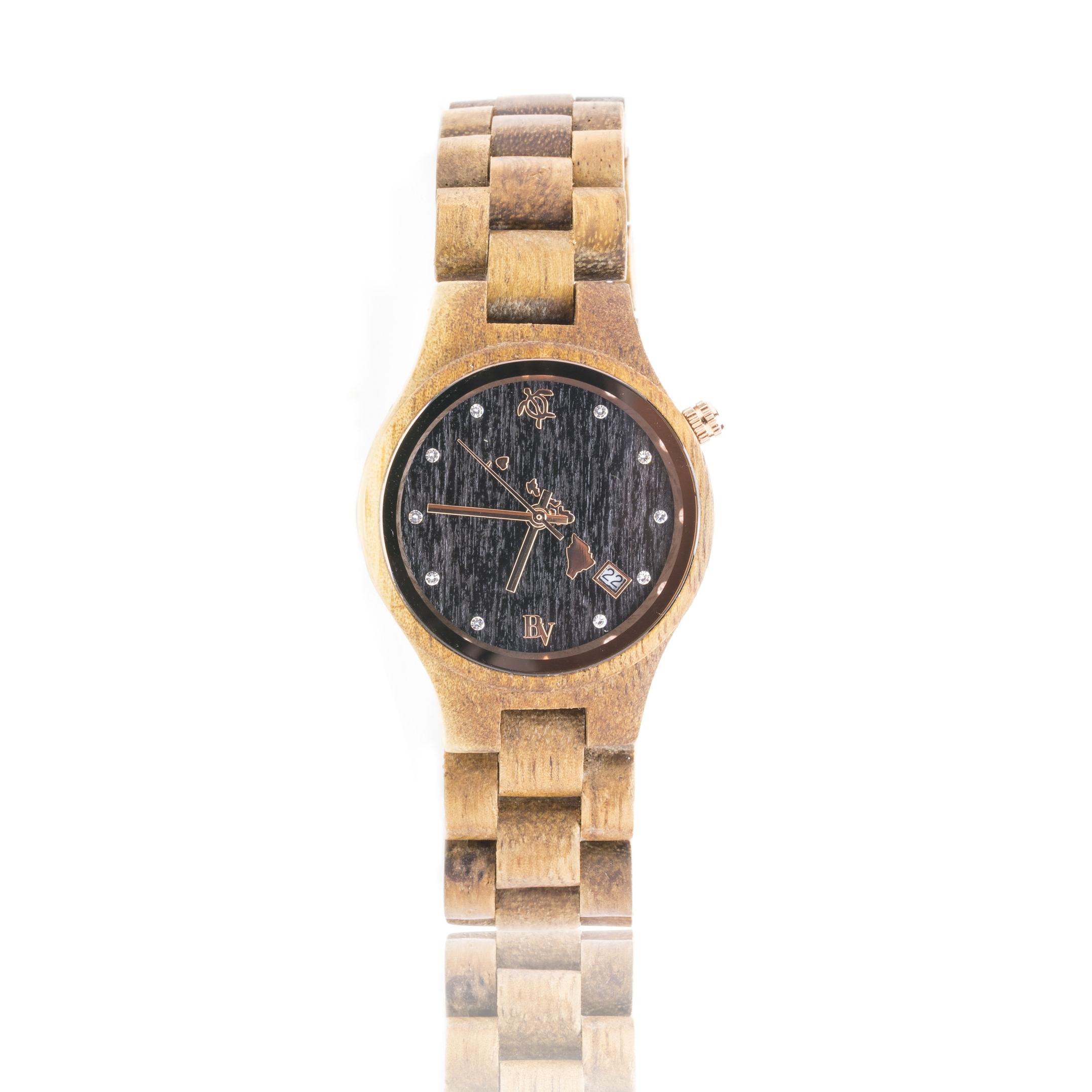 Koa wood watches for women