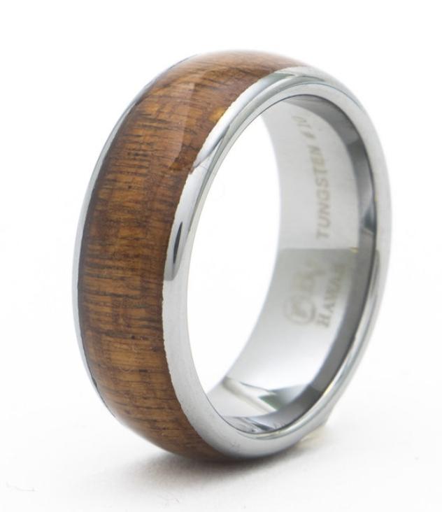 KOA TUNGSTEN Wood Ring