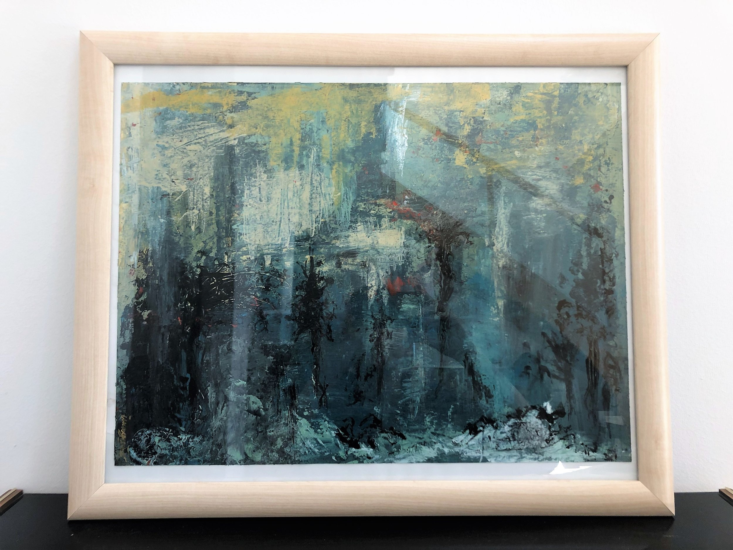 "Contemporary art piece abstract ""enchanting forest"""