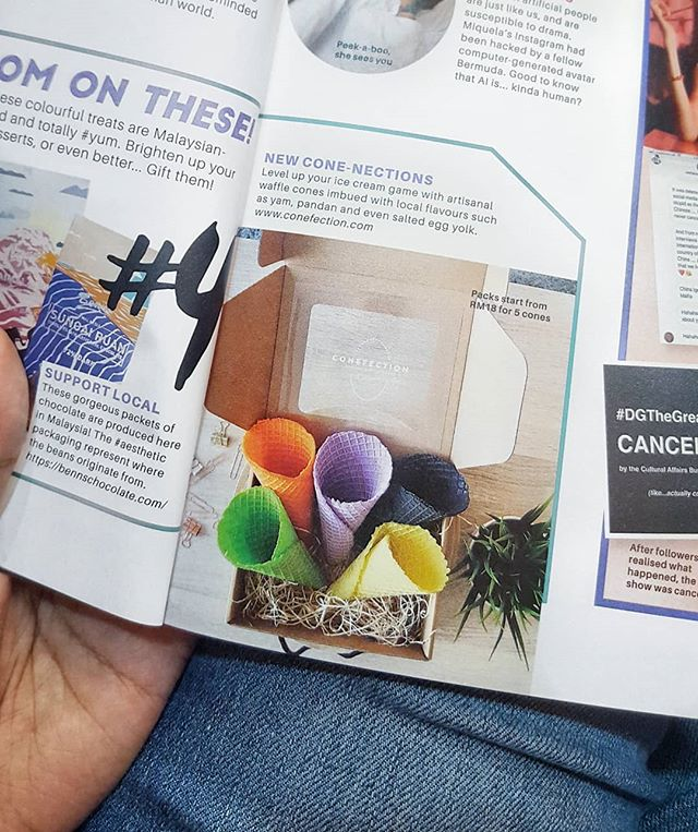 Thank you @cleomsia for featuring @conefection in your recent Jan/Feb issue. Lots of new developments coming soon - stay tuned for announcements! ☄ #cleomsia #cleomy