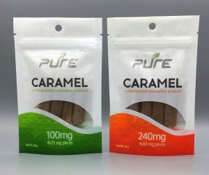 PURE 100mg and 240mg THC Caramels