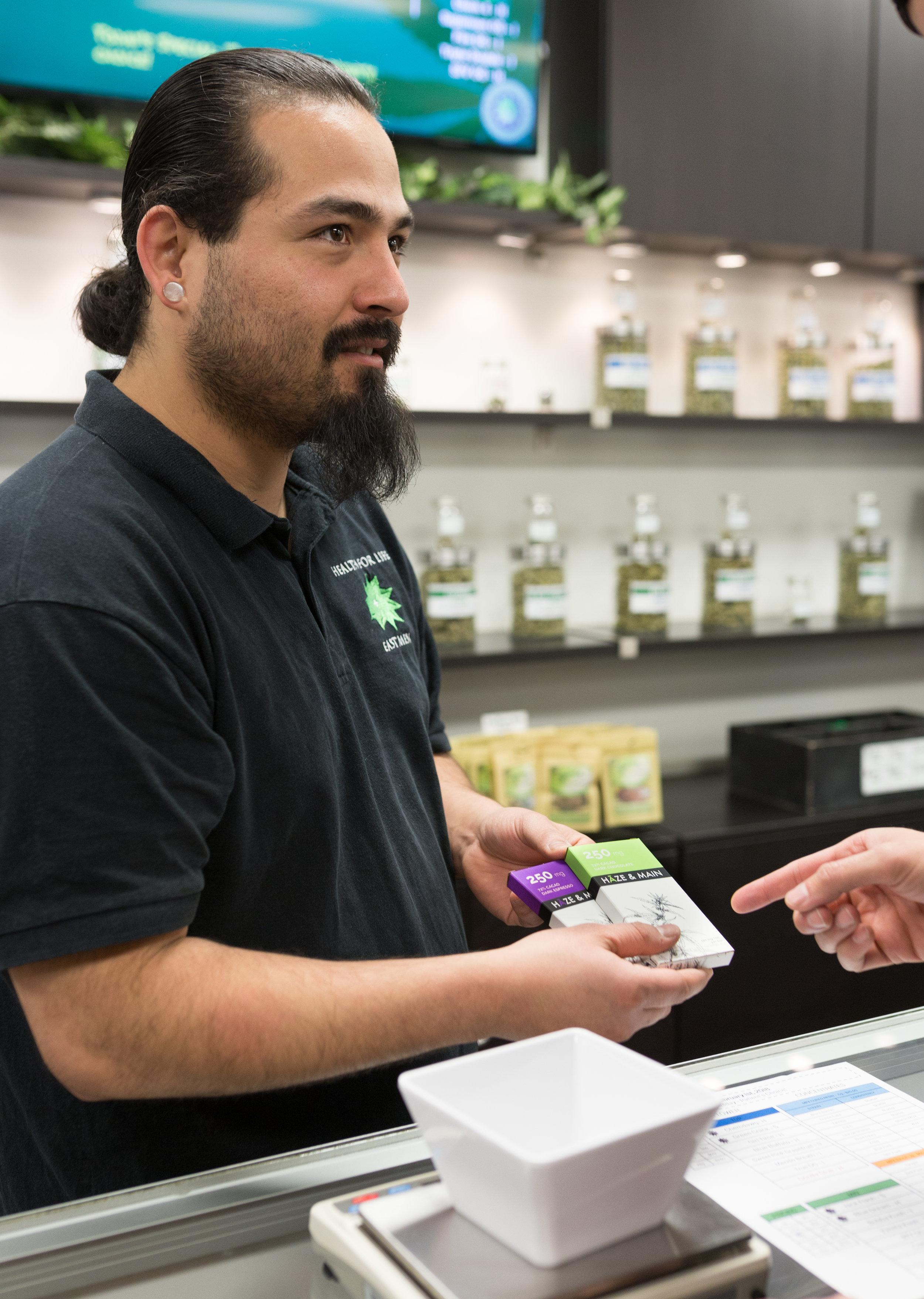 Dispensary Agent Chris B educating on the benefits of Medical Marijuana.