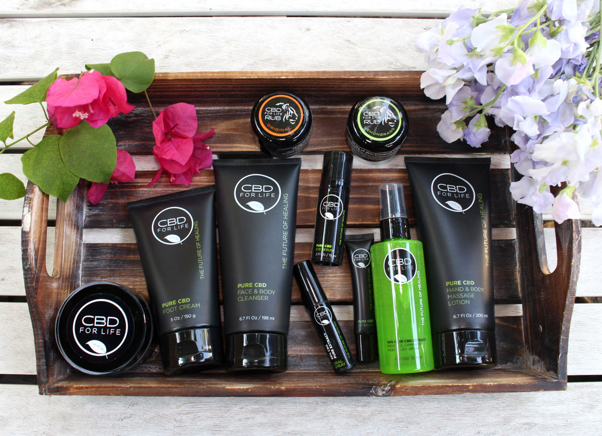 CBD for Life is a brand that carries a wide variety of beauty products such as face and body cleanser, eye serum, and lip balm!
