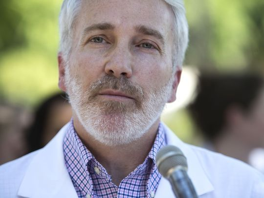 Rep. Randy Friese, D-Tucson, who is a doctor, criticized a proposal to penalize licensed medical professionals who knowingly make false recommendations for medical marijuana.(Photo: Loren Townsley/ The Republic)