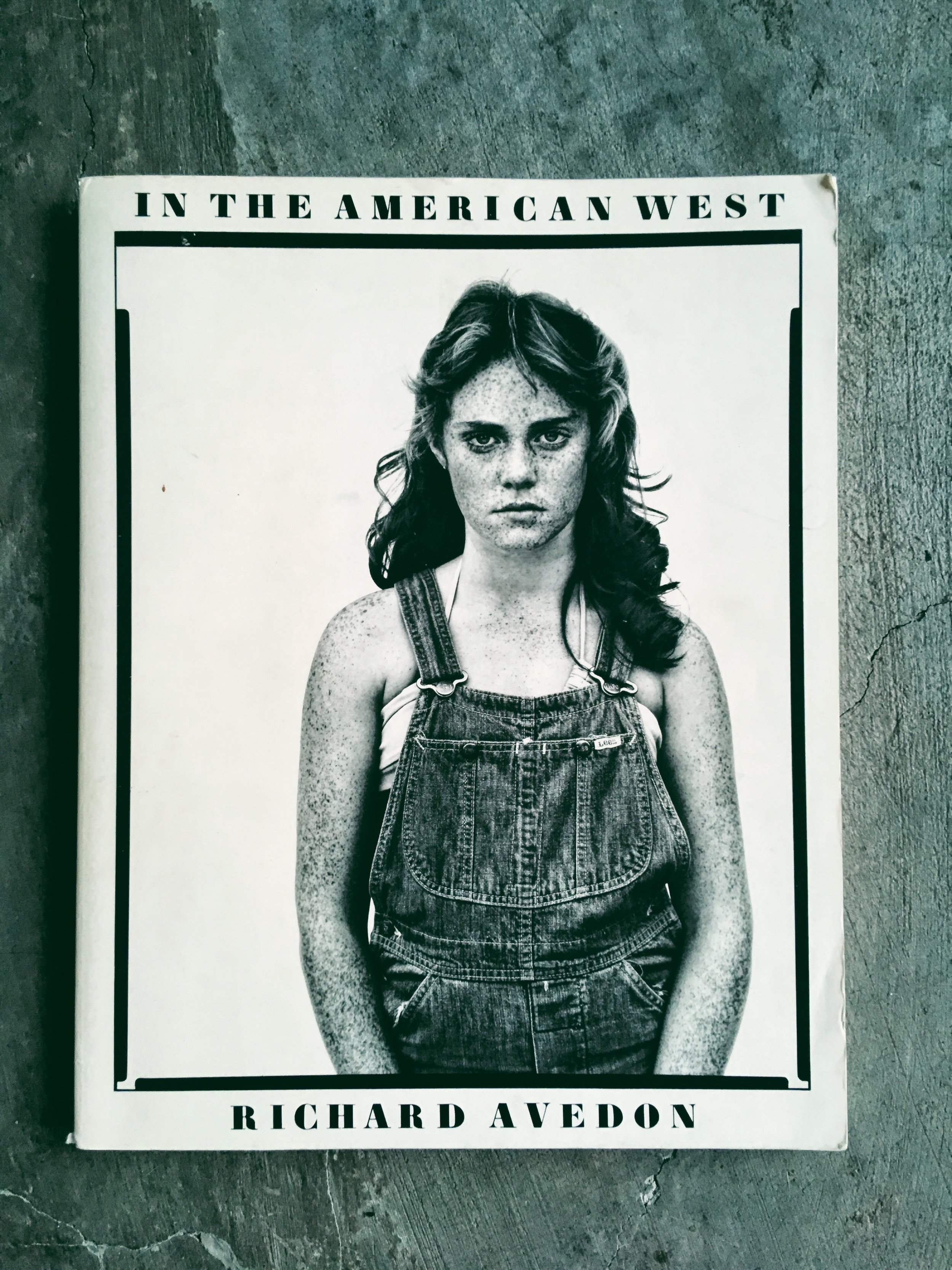 """An image of Richard Avedon's book """"In The American West"""""""