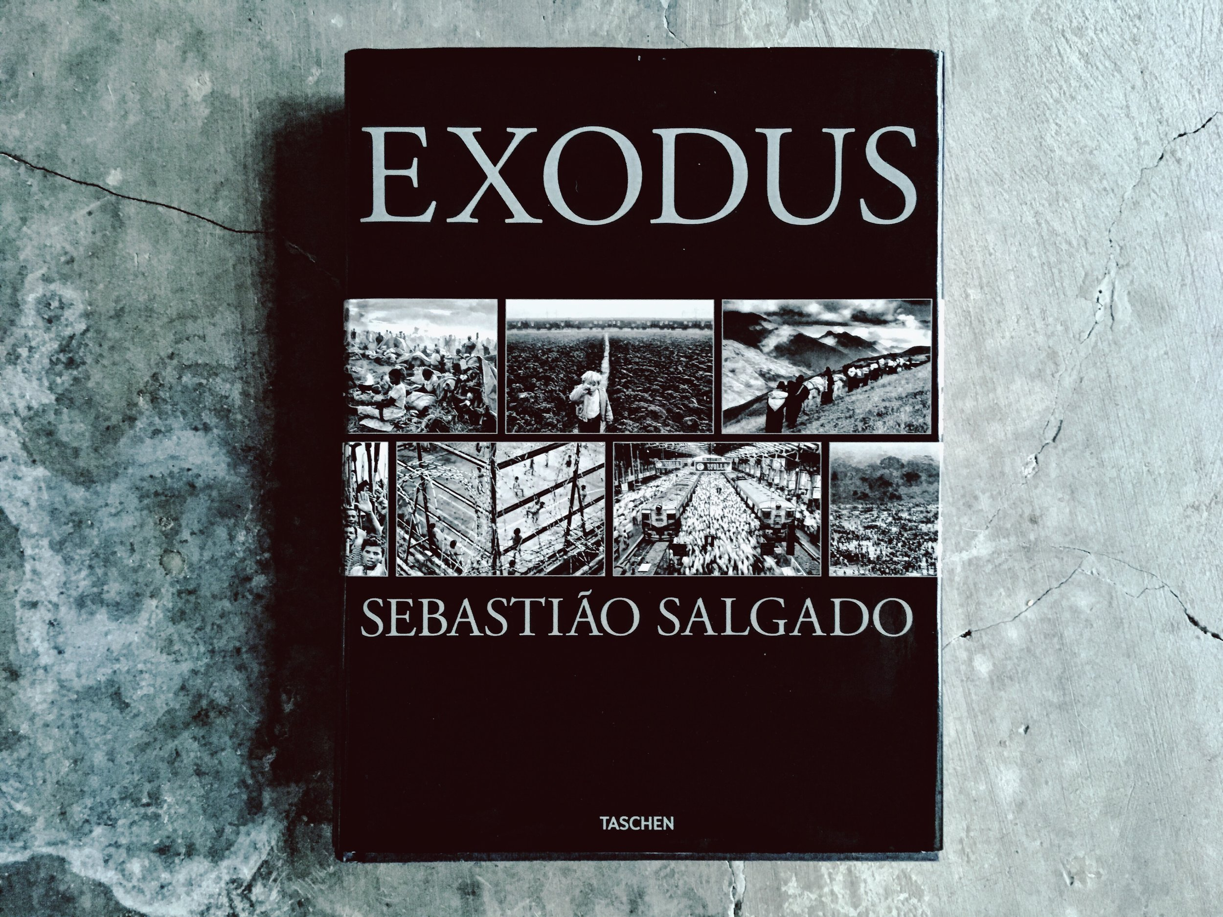 An image of the book Exodus by Sebastiao Salgado